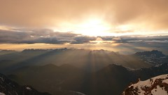 Sunset from the Cosmiques hut (chaletlaforet) Tags: mountaineering chamonix aiguilledumidi cosmiquesarte