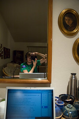 DSC_3986 (donut2D) Tags: camera portrait me computer person mirror mac nikon d70 laptop canadian pots ii american pro headphones calculus dslr donovan macbookpro mackbook