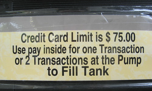 Sign Posted at a Gas Station