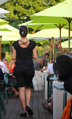 The Waitress (Little Ms Laura) Tags: people canon restaurant patio waitress dslr poeple eatery bigmomma 40d challengeyouwinner allrightsreserved photofaceoffwinner 70300mmf456dlmacrosuper pfogold photobug1sphoto tmoacawardwinner pinplay11aug