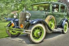 Antique Very Green Ford Model A