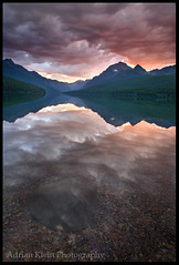 Sublime Texture (Adrian Klein) Tags: lake mountains reflection texture water forest sunrise photography nationalpark klein montana northwest surreal glacier elite adrian sublime bowman masterpiecesoflightdark