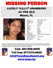 Lilly Aramburo Texas Equusearch Flyer