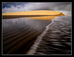 The Dark Coast by Michael Anderson (AndersonImages) Tags: travel brazil orange beach water clouds digital america coast michael movement sand paradise jericoacoara glow secret south dune hasselblad anderson tropical remote medium format ripples wilderness ceara silky jeri h2d