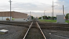Looking north on the Indiana Harbor Belt / Canadian Pacific ex Milwaukee Road crosstracks. franklin Park Illinois. June 2008.