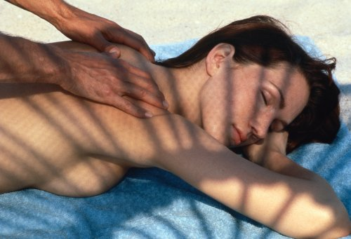 massagem na praia