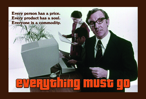 EVERYTHING MUST GO - postcard front