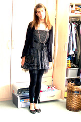 Saturday night outfit 4 (Josie Rahna) Tags: black cute shoes dress josie cocktail lacey crossdresser shrug leggins