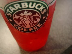 Passion tea (something...blue) Tags: morning pink light red sun cold green ice cup kitchen mix yum counter tea straw lemonade full plastic delicious starbucks half passion icy splash mermaid refreshing liquid fruity
