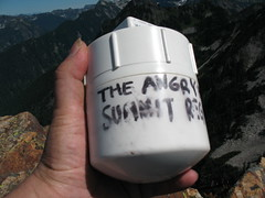 The Official Angry Hiker Summit Register.