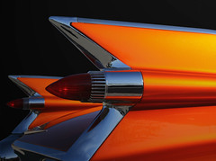 59 Cadillac (eYe_image) Tags: orange abstract classiccar automobile cadillac 1959 tailfins mywinners colourartaward