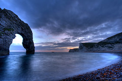 Durdle Door in HDR (ccsharry) Tags: ocean uk sea england sky seascape southwest water clouds canon landscape coast seaside wideangle coastal dorset hdr westcountry 10mm durdledoor naturesfinest jurassiccoast blueribbonwinner supershot sigma1020mmf456exdchsm 400d flickrdiamond ysplix goldstaraward ccsharry photomatrixpro3 toisndeoro