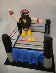 Macho Man Cake (mandrake68) Tags: man cake strawberry post sauce curtain ring almonds randy icing macho wrestle wwf savage buttercream sugarcade