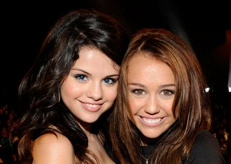 Selena Gomez and Miley Cyrus by Beautiful;;Brunette.