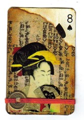Geisha (carnival2003) Tags: atc altered vintage cards alteredplayingcards