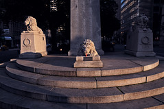 August 11th (oscarinn) Tags: sunset toronto ontario canada shadows lions yingyang universityavenue thegreatwar haveadrink sipicup