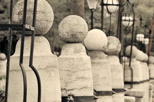 Concrete ball wall