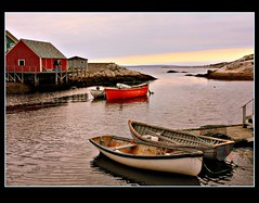 The quiet cove (Nancy Rose) Tags: ocean water boats fishing novascotia atlantic maritime wharf peggyscove sheds firstquality visiongroup multimegashot