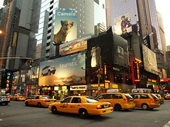 So this is NYC (Litji) Tags: nyc timessquare camels nuevayork nytaxicabs landroveradvertisement