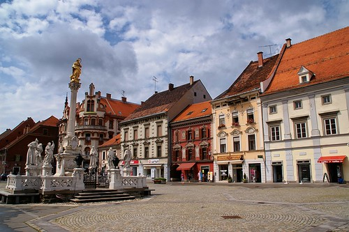 "Maribor: Main Square (Glavni Trg) and  Plague Column • <a style=""font-size:0.8em;"" href=""http://www.flickr.com/photos/26679841@N00/2915204451/"" target=""_blank"">View on Flickr</a>"