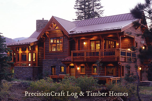 Exterior View | Custom Timber Frame Home | Located in California