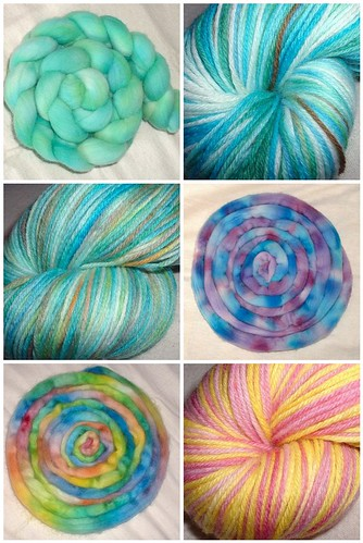 hand dyed yarn and fiber