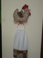 porta pano prato (dinorahramos) Tags: galinha tecidos patchcolagem portapanoprato