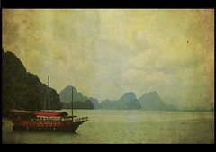 boat (belle_vue_) Tags: ocean sea vintage thailand photo asia solitude mood memories textured cartepostale