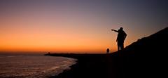 The golden hour (One_day_in_my_garden) Tags: ocean sunset people mer france de soleil coucher jete digue landes boucau tarnos