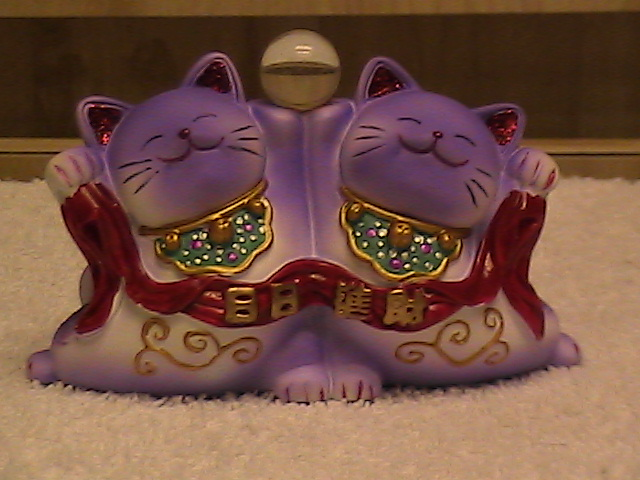Purple Maneki Neko twins!