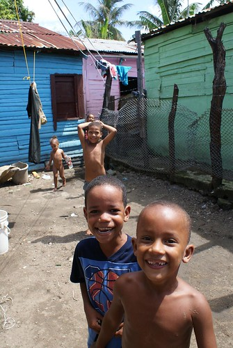 children in a slum by Topaaz.