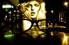À la Woody Allen (janbat) Tags: longexposure green yellow jaune 35mm glasses nikon women femme vert f2 nophotoshop nikkor lunettes abribus f8 nantes woodyallen poubelle affiche f90x argentique lev fujisuperia400 n90s expositionlongue coursdescinquanteotages jbaudebert marathonphoto2008