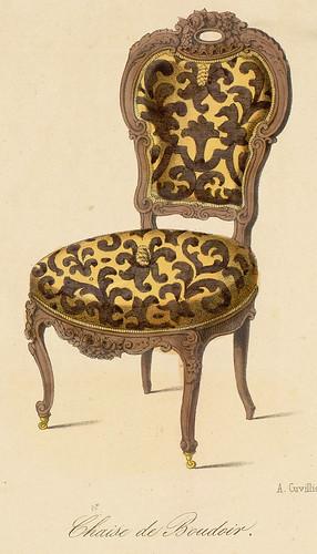 018-silla de tocador estilo Renacimiento Rococo