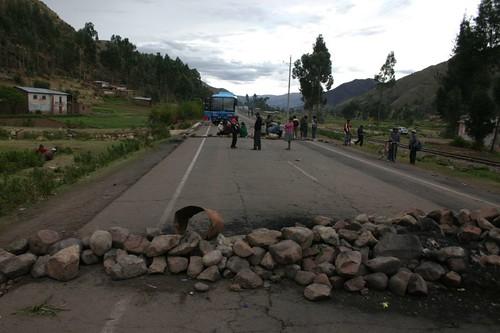 Blocade near Sicuani, Peru.