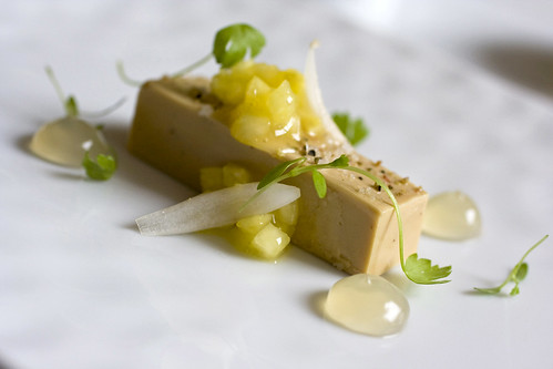 Foie gras terrine with golden pineapple