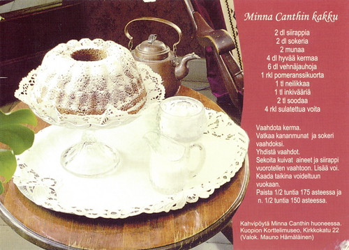Recipes - Minna Canthin kakku (cake) by 9teen87's Postcards.