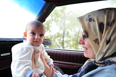 Look Ahead Daddy! You the Driver!! (Hamed Saber) Tags: baby girl iran sweet mother jungle iranian motherhood doughter capriceclassic delaram somayeh