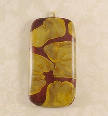 William Morris Inspired Polymer Clay Pendant 1