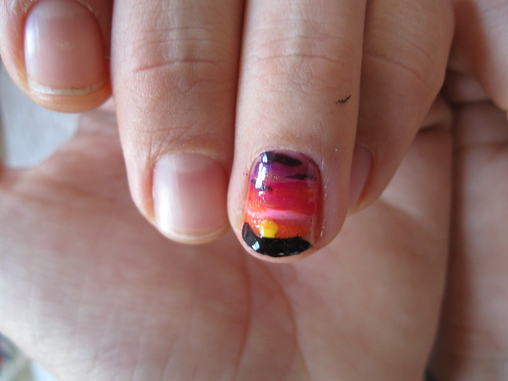 sunset nail - Nail Arts Spa: Sunset Nail Art