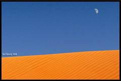 Peace On Desert (Bashar Shglila) Tags: sky moon sahara sand desert dunes dune luna libya libyen lbia libi libiya aplusphoto liviya libija  flickrlovers     lbija  lby libja lbya liiba livi