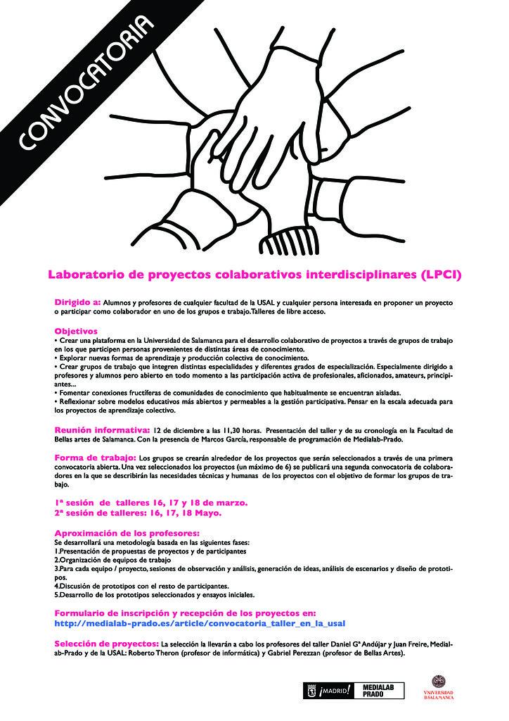 Laboratorio de Proyectos Colaborativos Interdisciplinares, Universidad de Salamanca y Medialab Prado