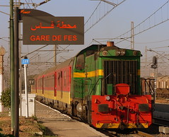 Outbound (A_E_P) Tags: africa travel color colour dusty public train moving north transport tracks rail morocco fez commute locomotive fes oncf