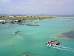 Returning Base ( DD) Tags: maldives base seaplane maldivianairtaxi hulhule 8q
