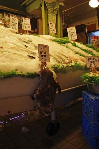 monkfish at the market