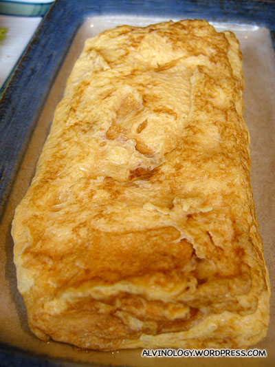 Japanese omulette - one of Meiyens favourite food