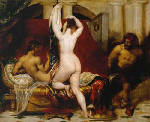 William Etty-King of Lydia Shows his Wife