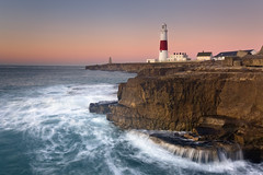 Portland Bill Sunrise (peterspencer49) Tags: ocean longexposure sea lighthouse seascape water sunrise portland coast waterfall waves dorset stunning coastline seaview coastalpath westcountry ledges portlandbill southwestcoast dorsetcoast portlandlighthouse southwestcoastalpath juassic stunningview seascene jurasiccoast oceanveiw 5dmkll peterspencer stunningseascape coastalledges