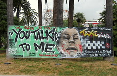 Timely Graffiti (Bex.Walton) Tags: trees graffiti cannes palm robertdeniro cannesfilmfestival youtalkintome