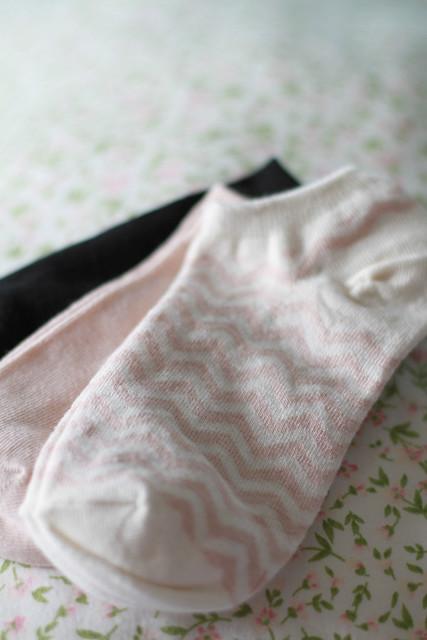 H&M Dusty Pink Herringbone Socks