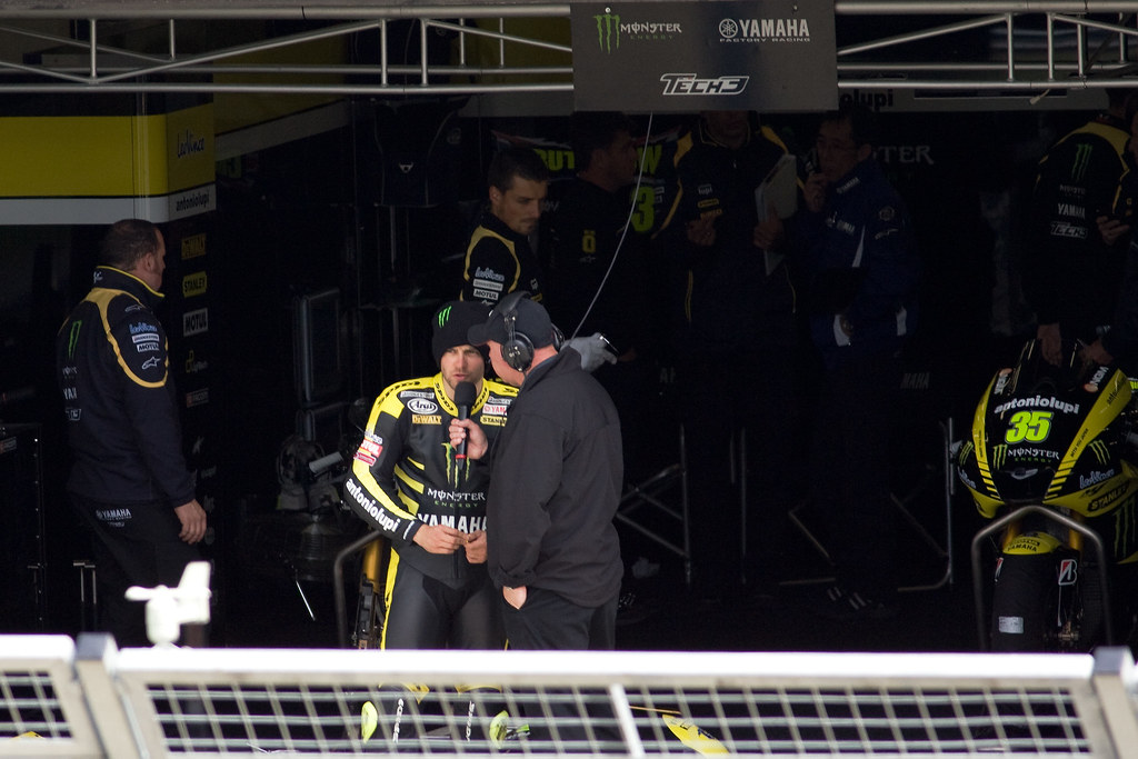 Cal Crutchlow being interviewed